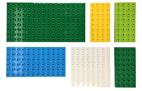 Papi Max Mega Pack 6 Stück große Steine Bauplatte Kreatives Vorschulspielzeug baseplate kompatibel mit Duplo