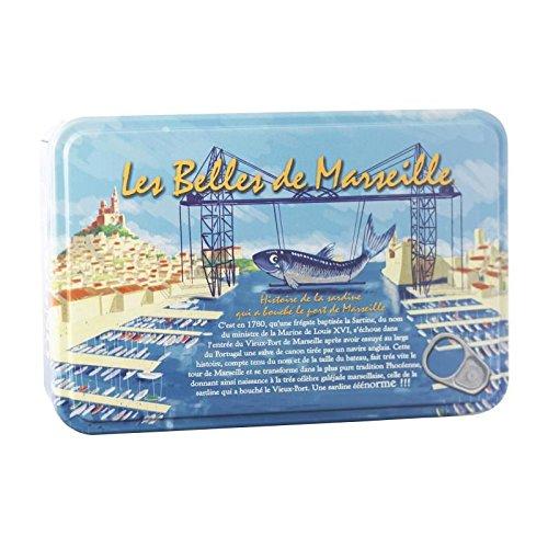 Preisvergleich Produktbild BELLES DE MARSEILLE Coffret Métal 4 Boites Sardines 1 / 6