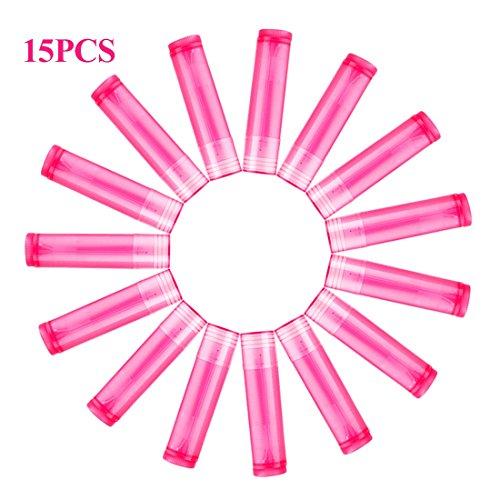 Cikuso 15pcs Rose roten Lippenstift leeren Rohr Wachsrohr Lippenstift DIY Lipstick Tube kosmetische...