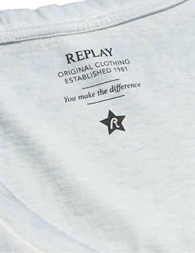 Replay Damen T-Shirt W3763 .000.22142 Blau (PALE BLUE 579)