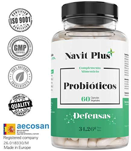 Probiotici avanzati. Probiotici potenti in capsule - 10 mila milioni di UFC. Nuova formula potenziata ad ampio spettro. 60 capsule vegetali | Made in Spain | ISO9001.