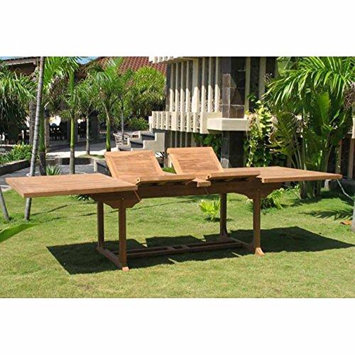 OUTLIV. Ausziehtisch Garten Ontario Gartentisch ausziehbar Teakholz 195/295cm Terrassentisch...