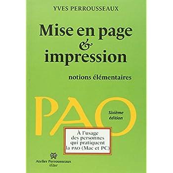 Mise en page et impression : Notions élémentaires