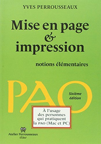 Mise en page et impression : Notions lmentaires