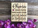 Ohana Schild Ohana Means Family Zitat für Kinderzimmer
