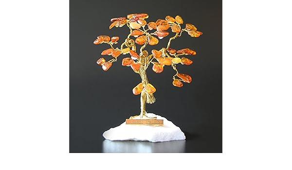 Kleiner Glücksbaum Glücksbäumchen Bernsteinbaum Bernsteinbäumchen III 9 cm
