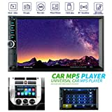Autoradio Doppio Din, LUCKYDIY 7 Pollici HD 1080P Touch Screen In Dash Car Multimedia Radio, Lettore MP5 Supporta Mirrorlink/Vivavoce Bluetooth/FM/USB/TF/AUX/Telecomando + Pulsanti colorati delicati
