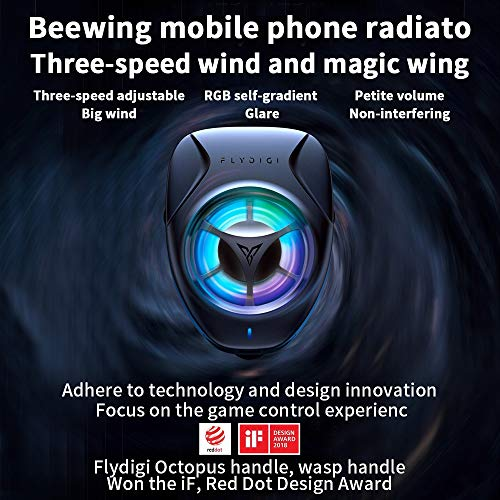 Flydigi Beewing Handy-Kühler-heißer körperlicher Ventilator, der tragbares Telefon abkühlt -