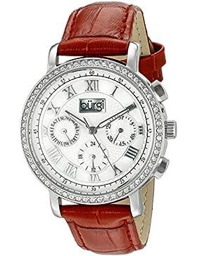 Burgi Damen-Armbanduhr Analog Display Swiss Quarz rot