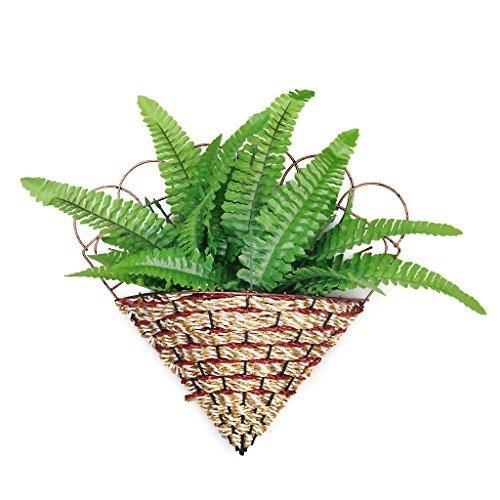 1x Künstlicher Farn Gras Kunststoff Pflanze Home Tisch Arrangement Decor Grün - Dekorieren Esszimmer Tisch