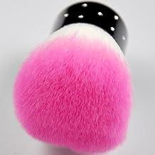 SODIAL(R) Rosa Blanco - Cepillo Removedor de Polvo para Arte de Unas o Cosm¨¦tico Maquillar