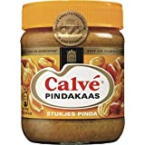 3 X Calvé Pindakaas met stukjes noot - Erdnussbutter mit Stückchen Nuß - 350g