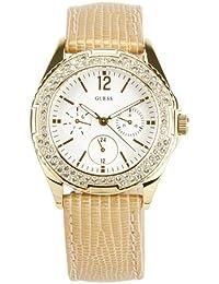 Guess Damen-Armbanduhr Rock Candy Chronograph Quarz Leder W16574L1