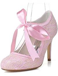 Elegant high shoes Scarpe da Donna con Tacco Basso da Donna TU-5623-06  Scarpe da Cerimonia Corte con Fiocco… 2eb69c67a4f