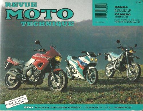 Revue Moto Technique 85. 1992. Honda NSR 125 R (1989-1992) CRM 125 (1990-1992). Yamaha TDM 850 (1991-1992). par Collectif