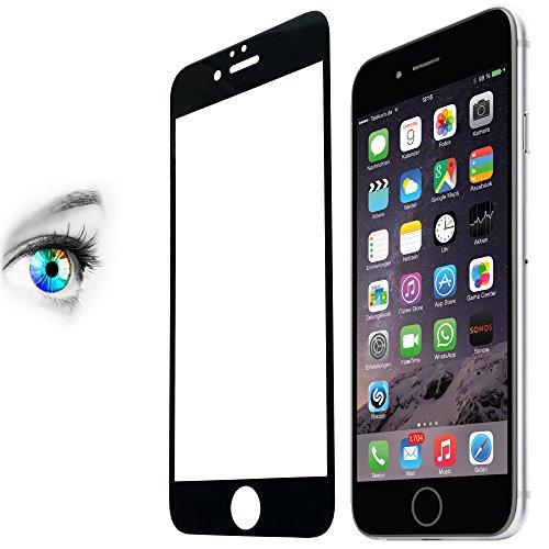 """PROTOMAX Schutzglas für Apple iPhone 6 (plus 5,5"""" Zoll) iPhone 6s Plus, Schutzfolie 3D Touch Unterstützung 9H, Full Cover Kantenschutz, SCHWARZ, lebenslange Garantie (2er Pack)"""