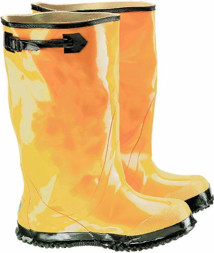 ONGUARD 88070 Rubber Men's Slicker Boots with Cleated Ripple Outsole, 17 Height, Yellow, Size 8 by ONGUARD Industries Ripple Boot