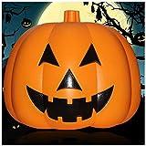 Maschera Halloween Pumpkin Lights Glowing Voice Control Medio Ornamenti di lanterna di zucca Trucchi Props Hotel Scene Disposizione