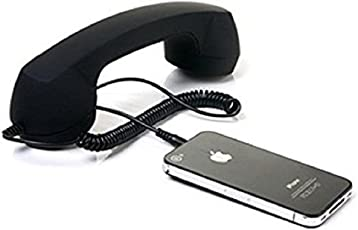 Magnusdeal Anti-Radiation Retro Style Handset Coco Phone with HD Speaker and Microphone (Black)
