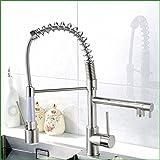ETERNAL QUALITY Badezimmer Waschbecken Wasserhahn Messing Hahn Waschraum Mischer Mischbatterie Tippen Sie mit Licht LED-gebürstet die Küche Das Wasser in die Spüle Wasser