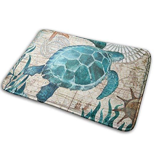 Möbel Turtle Bay (Bgejkos Monterey Bay Octopus Sea Turtle Rutschfeste Maschine waschbar Fußmatte Home Decor Teppich Vordere Matten 23.6x15.7 Zoll)