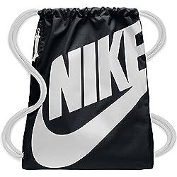 Nike Nk Heritage Gmsk Mochila, Unisex Adultos, Negro (Black/White/White)
