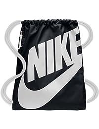 Nike Nk Heritage Gmsk Bolsa de Tela y de Playa, Unisex Adultos, Negro (Black/White / White)
