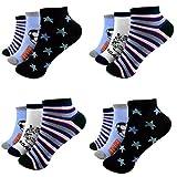 12 Paar Kids Jungen Socken Kinder Sneaker Strümpfe 95% Baumwolle Bunt Gr. 23-38 Art.D-108 Kurzsocken