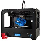 Win-Tinten Schwarz 3D Drucker, Dual-Extruder Desktop Rapid Prototyping 3D-Drucker 3D Printer Inklusive 1 x 1,75 mm ABS/PLA Filament