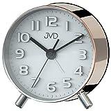 JVD SRP2121.3 Wecker Quarz analog kupfer farben leise ohne Ticken