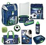 Familando Fußball Schulranzen-Set Scooli FlexMax 9tlg. mit Sporttasche, Dose, Flasche und Regenschutz