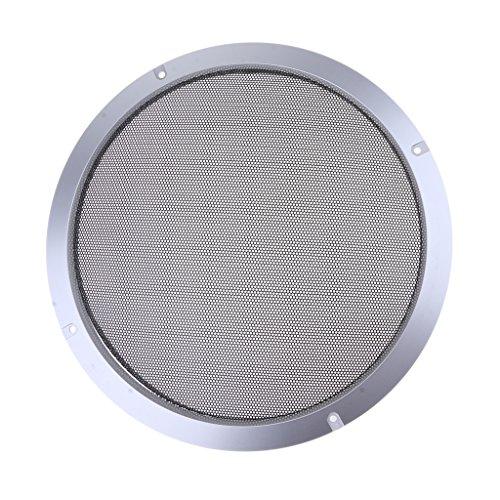 Baoblaze Metall silber Auto Audio Lautsprecher Subwoofer Schutzgitter Abdeckung, 4 Zoll/5 Zoll/6,5 Zoll/8 Zoll/10 Zoll - 10-Zoll (6-zoll-subwoofer-lautsprecher-grill)