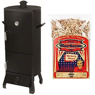 El Fuego® Gasgrill/-smoker Portland, Schwarz, 55x105x45 cm