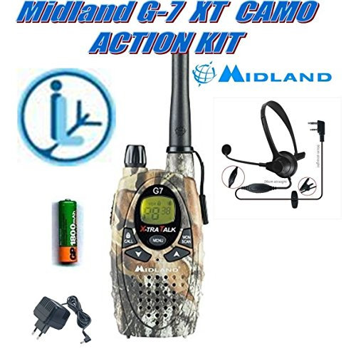 Midland G7Pro Mimetic Action Kit RTX PMR/LPD EC/Aur + mic. Kopfhörer 49089+ 333024
