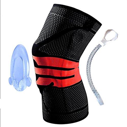 Preisvergleich Produktbild Unterstützte Knie-Knie-Übung Knie-Unterstützung für Gelenkschmerzen,  Arthritis,  Bänderverletzung,  Meniskusriss,  Sehnenscheidenentzündung,  Laufen,  Kniebeugen (Größe : XL (Knee Circumference 50-55cm))