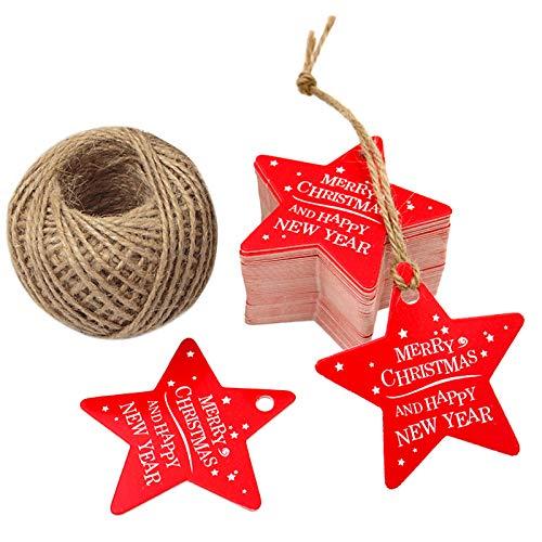 Etiquetas de papel para regalos de Navidad