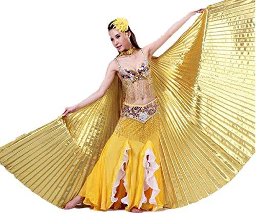 Gold Wings Kostüm - Yesmile Damen 142CM Frauen Weiche Gewebe Schmetterlings Flügel Schal Feenhafte Nymphe Pixie Halloween Cosplay Ostern Karnevalskostüm Accessoire Weihnachten Kostüm Zusatz (142CM/55.9