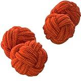 Cuffs & Co Manschettenknöpfe Seide Knoten orange Schatten, Orange, CBK-020