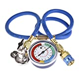 MRCARTOOL A/C R-134A Refrigerant Recharger Hose Low Pressure Gauge Easy Opener Car Air Conditioning Port Can Tap Valve Bottle Adapter R134A R22 R12 AC Charging Kit