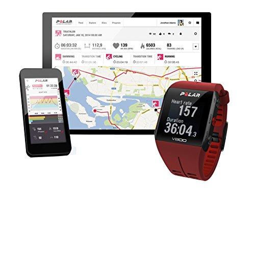 Polar V800 HR - Reloj deportivo GPS y sensor de frecuencia cardíaca H7 HR