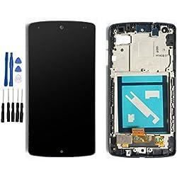 ixuan Pour LG Google Nexus 5 D820 Vitre Ecran Tactile LCD Assemblé Complet sur Châssis de Remplacement (Noir)