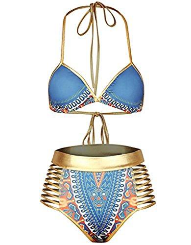 Bepo Damen Bikini-Set Blue-gold