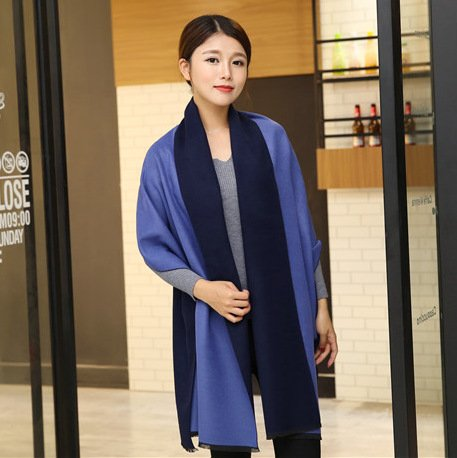 OME&QIUMEI Scarf Female Winter Double Face Corrupt 200-65Cm