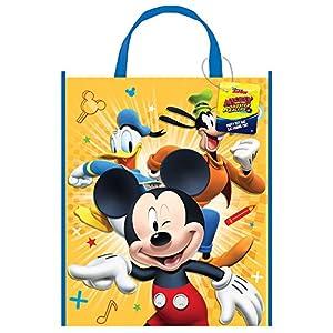 Unique Party Bolsa de plástico Grande para Fiesta de Mickey Mouse, 33 cm x 28 cm
