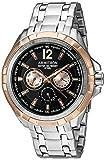 Armitron Men's 20/5095BKRG Multi-Function Dial Silver-Tone Bracelet Watch