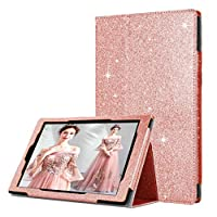 GAX iPad Glittery Case Cover - Slim Thin Light Weighted Tablet Case | Sparkling Shiny Flip Leather Case with Auto Sleep | Wake Function for iPad 2/3/4 (iPad 2nd 3rd 4th Generation, Rose Gold)