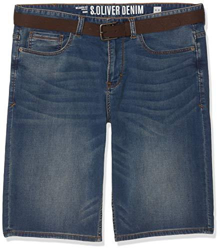 s.Oliver Big Size Herren 15.904.72.3463 Shorts, Blau (Blue Denim Stretch 55z4), W(Herstellergröße: 40)