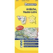 Ardeche, Haute-Loire Michelin Local Map 331 (Michelin Local Maps) by Michelin (2008-03-01)