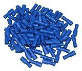 Aerzetix: 100 Kabelschuhe Steckverbinder Isoliert 4.75mm Blau Frauen