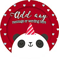 Panda Bear Sticker Labels (24 Stickers, 4.5cm Each) Personalised Seals Ideal for Party Bags, Sweet Cones, Favours, Jars, Presentations Gift Boxes, Bottles, Crafts